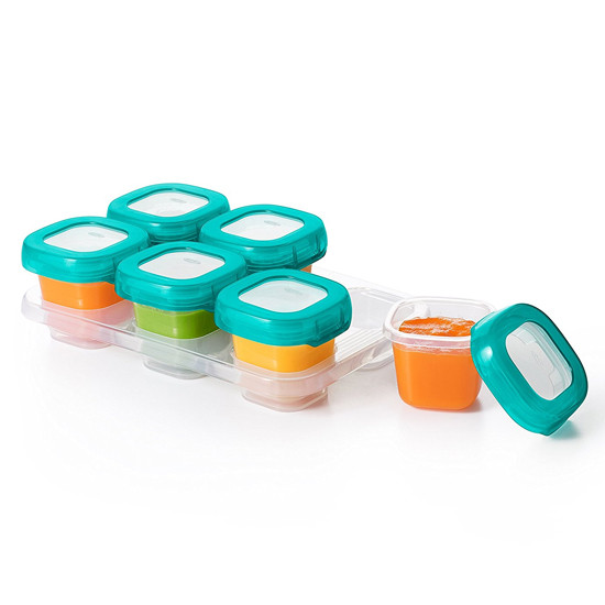 OXO TOT Plastic Baby Blocks - 2 oz - Teal-3