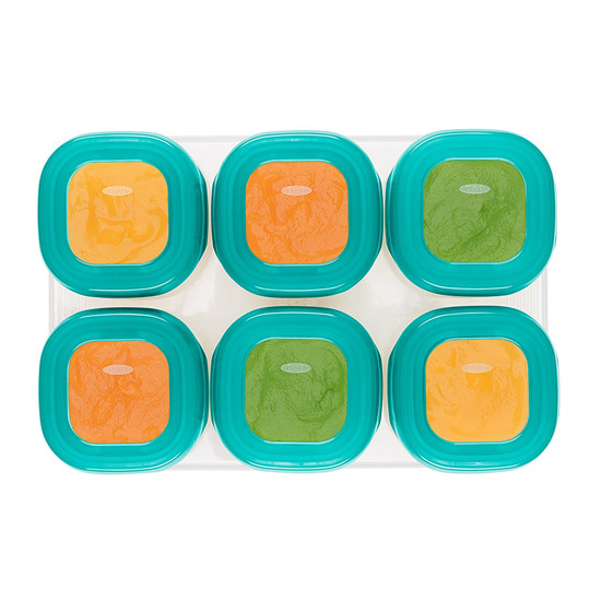 OXO TOT Plastic Baby Blocks - 2 oz - Teal-4