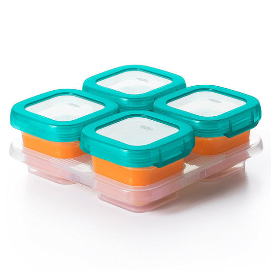 OXO TOT Plastic Baby Blocks Freezer Storage Containers (4 OZ) -2