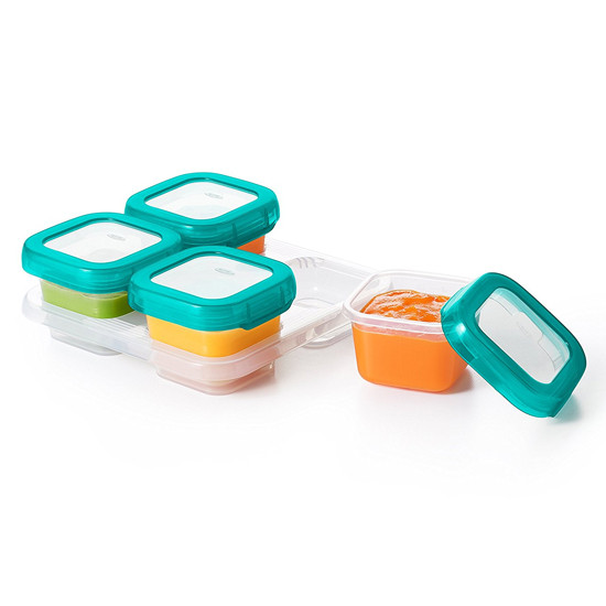 OXO TOT Plastic Baby Blocks Freezer Storage Containers (4 OZ) -3