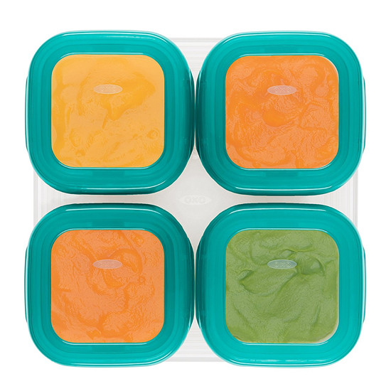 OXO TOT Plastic Baby Blocks Freezer Storage Containers (4 OZ) -4