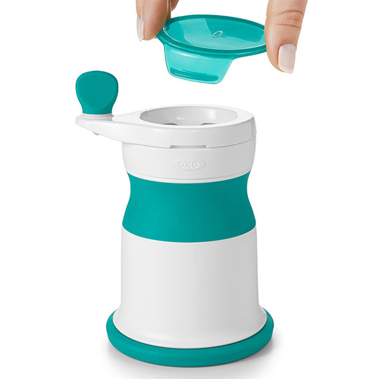 OXO TOT Mash Maker Baby Food Mill - Teal-6