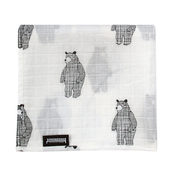 Innobaby Dono&Dono Light Muslin Cuddle Blanket - Big Bear