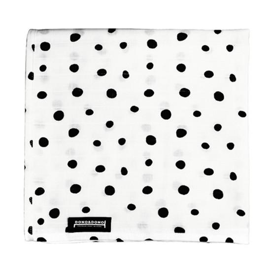 Innobaby Dono&Dono Light Muslin Cuddle Blanket - Black Etoile