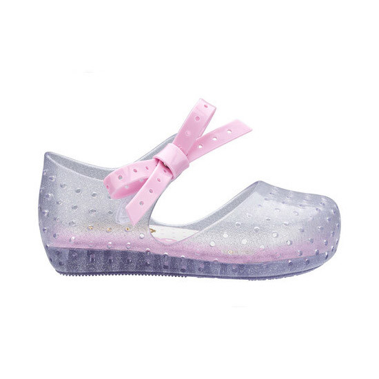 Mini Melissa Furadinha X - Clear Glitter Silver are the cutest!