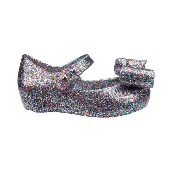 Mini Melissa Ultragirl Bow III - Multicolor Glitter ship for free!