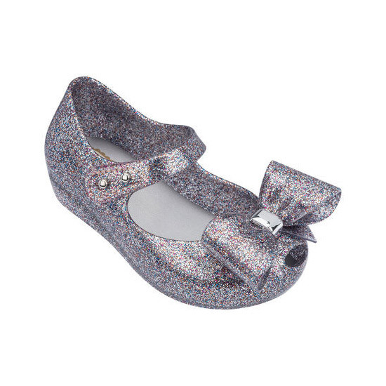 Mini Melissa Ultragirl Bow III - Multicolor Glitter are the cutest shoes!