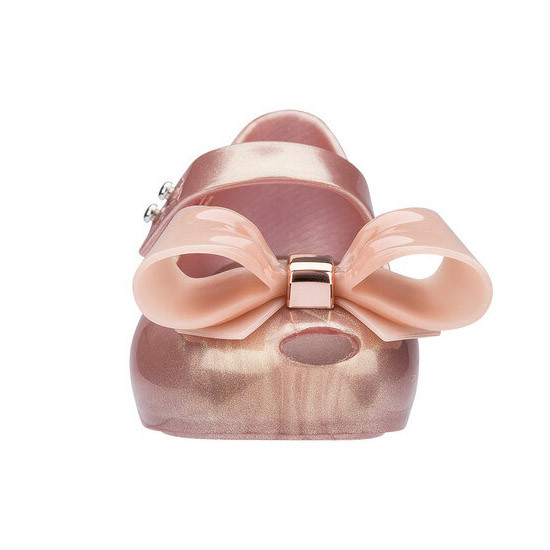 Mini Melissa Ultragirl Bow III - Pink are soft and shinny!