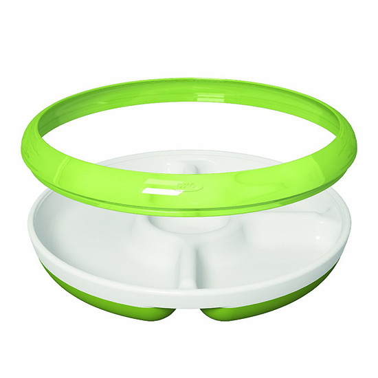 OXO TOT Divided Plate - Pink-2