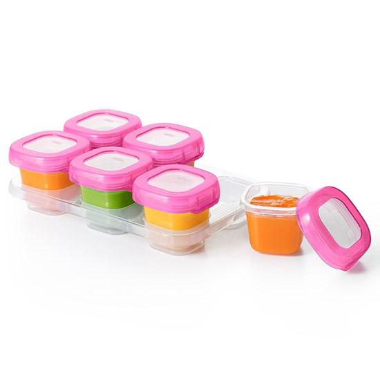 OXO Tot Plastic Baby Blocks - 6 oz - Pink-2