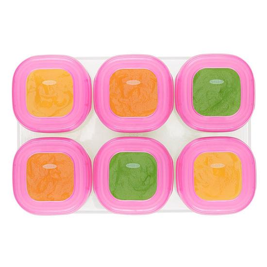 OXO Tot Plastic Baby Blocks - 6 oz - Pink-3