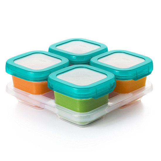 OXO Tot Plastic Baby Blocks - 6 oz - Teal-2