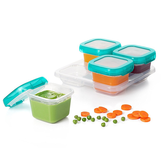 OXO Tot Plastic Baby Blocks - 6 oz - Teal-4