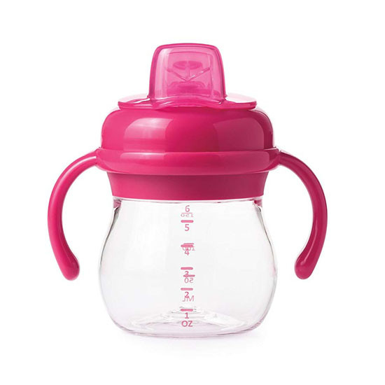 OXO Transitions Soft Spout Sippy Cup with Removable Handles - Pink