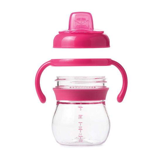 OXO Transitions Soft Spout Sippy Cup with Removable Handles - Pink_thumb1_thumb2