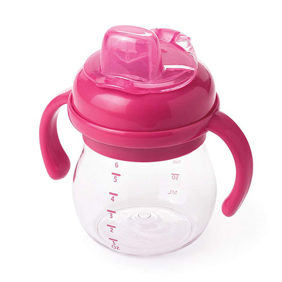 OXO Transitions Soft Spout Sippy Cup with Removable Handles - Pink_thumb3