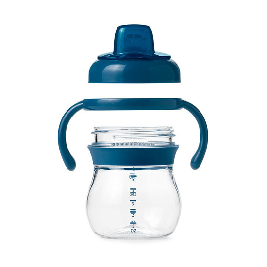 OXO Tot Transitions Soft Spout Sippy Cup with Removable Handles - Teal-3