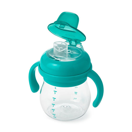 OXO Tot Transitions Soft Spout Sippy Cup with Removable Handles - Teal-2