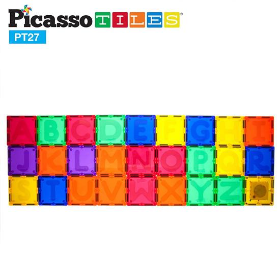 PicassoTiles PT27 Piece Alphabet Magnet Tiles Set-2