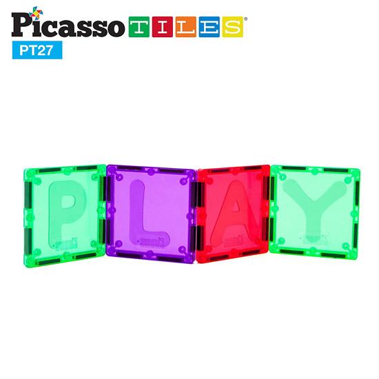 PicassoTiles PT27 Piece Alphabet Magnet Tiles Set-3