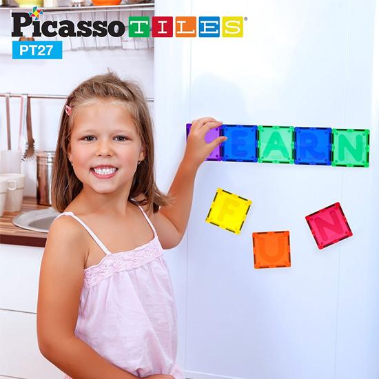 PicassoTiles PT27 Piece Alphabet Magnet Tiles Set-4