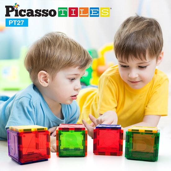 PicassoTiles PT27 Piece Alphabet Magnet Tiles Set-5