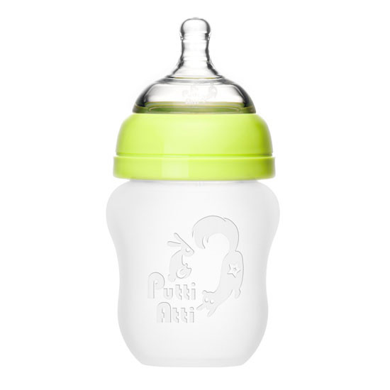 Putti Atti Silicone Baby Bottle - 5.5oz - Green