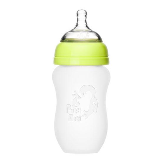 Putti Atti Silicone Baby Bottle - 8.8oz - Green