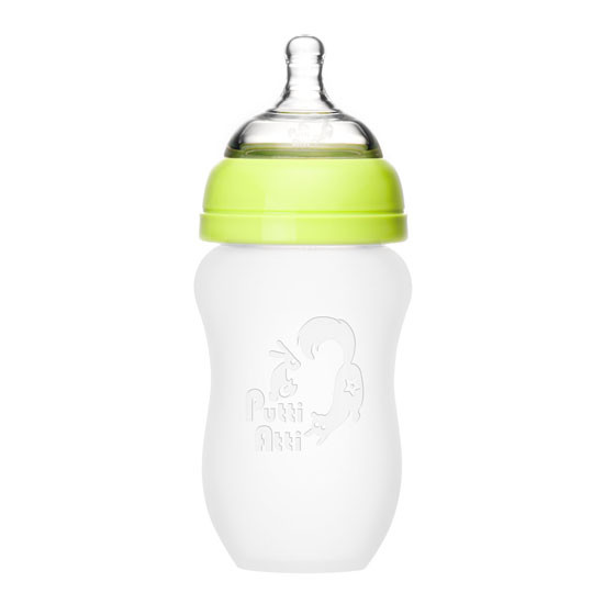 Putti Atti Silicone Baby Bottle - 8.8oz - Green