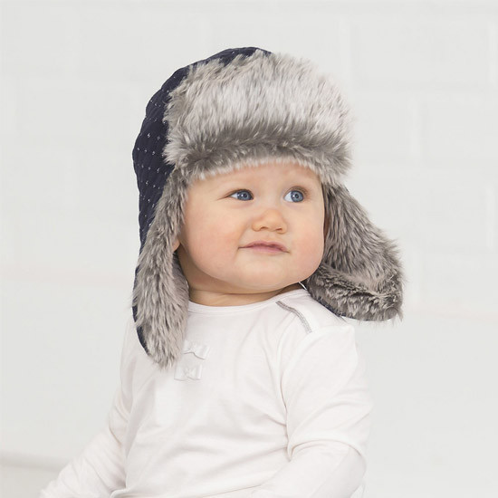 Robeez Quilted Bomber Hat - Navy (0-12 Months) Product