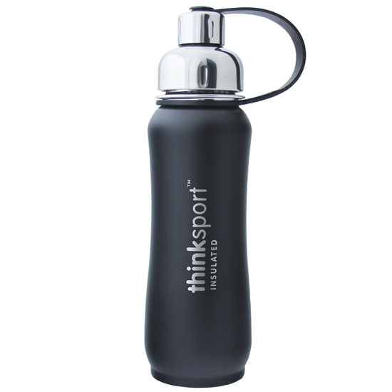 Thinksport Insulated Sports Bottle - Powder Coated Black - 17 oz Product
