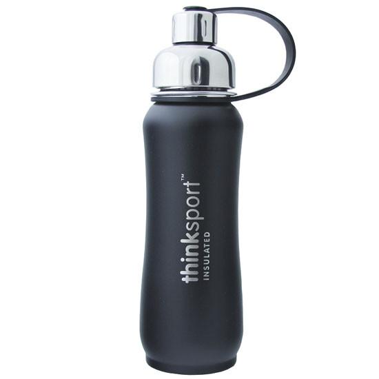 Thinksport Insulated Sports Bottle - Powder Coated Black - 17 oz
