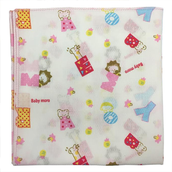 Bradcal Baby Handkerchief - ABC with Pink Trim