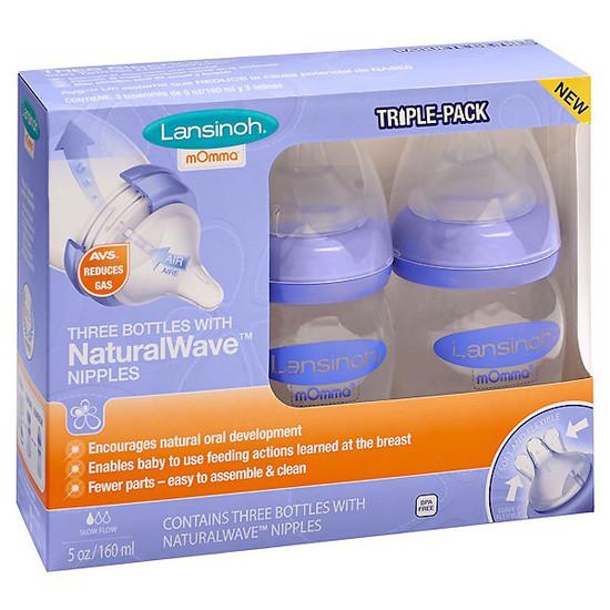 Lansinoh mOmma Bottle with NaturalWave Nipple 5 oz - 3 pk