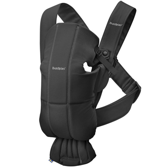 Baby Bjorn Baby Carrier Mini - Black Cotton