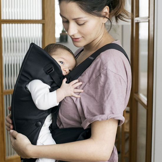 Baby Bjorn Baby Carrier Mini - Black Cotton for direct contact with baby