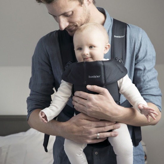 Baby Bjorn Baby Carrier Mini - Black Cotton gives you and your baby all of the support
