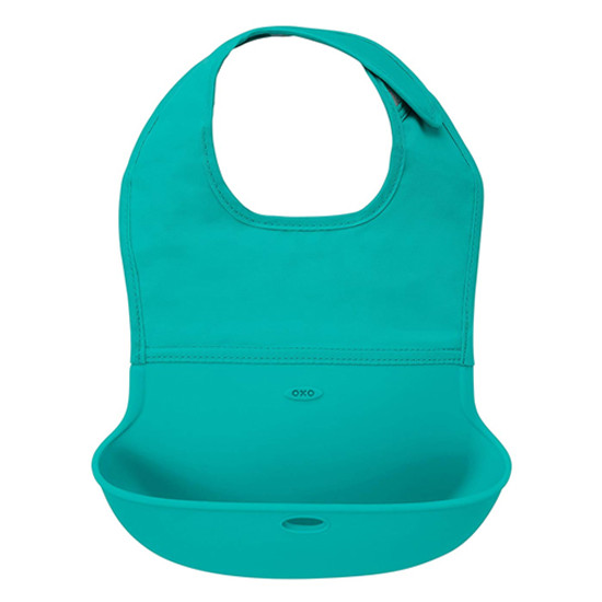 OXO Roll-Up Bib - Teal-1