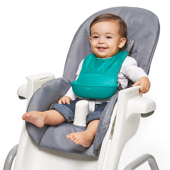 OXO Roll-Up Bib - Teal-4