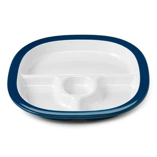 OXO Melamine Divided Plate - Navy-1