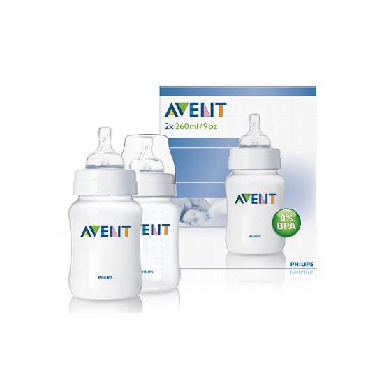 Philips Avent BPA Free 9oz Polypropylene Bottle (Twin)