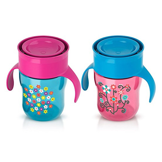 Philips Avent My First Big Kids Cup - Pink/Blue
