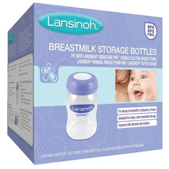 Lansinoh Breastmilk Storage Bottles - 4 Pack