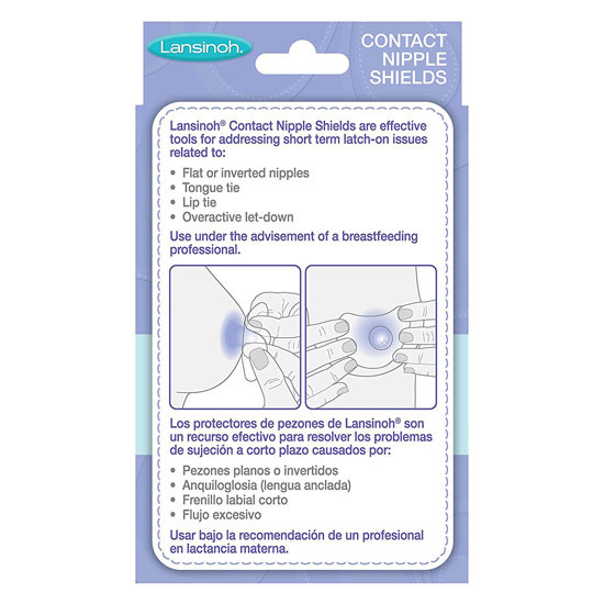 Lansinoh Contact Nipple Shield with Carrying Case - 2 Pack