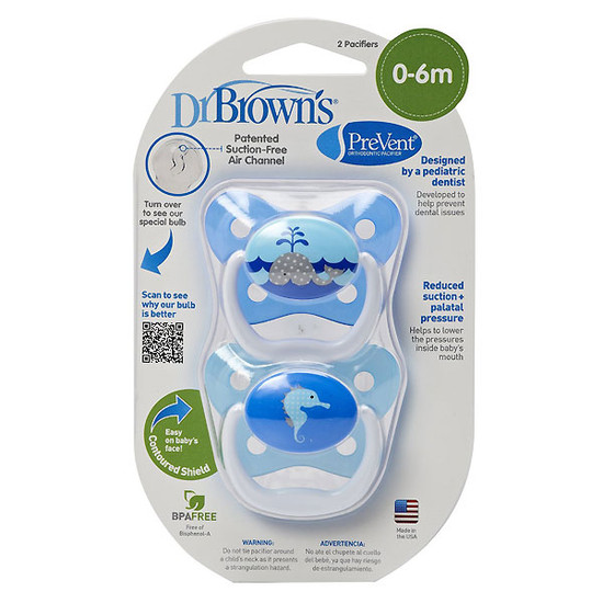 Dr. Brown PreVent Butterfly Pacifier - Stage 1