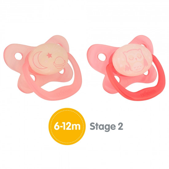 Dr. Brown Stage 2 Glow in the Dark Pacifier - Assorted Colors