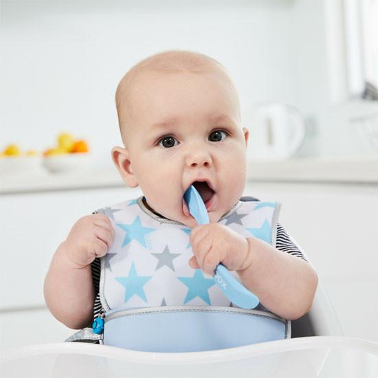B. Box Baby Spoon (Twin Pack) - Blue/Green-3