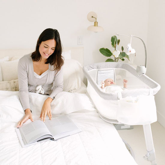 Arm's Reach Versatile Co-Sleeper Bassinet - Bed Side