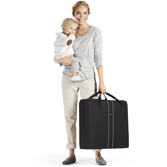 Baby Bjorn Travel Crib Light in Silver Steps Travel Bag