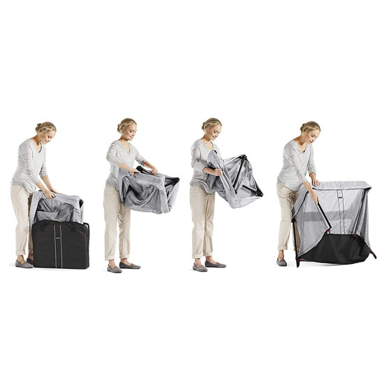 Baby Bjorn Travel Crib Light in Silver How to Fold